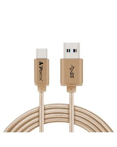 Portta® USB Type-C to USB 3.0 A Male Goden 3.3 feet