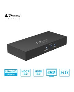 Portta® 1x2 HDMI™ Splitter Support 4k@60Hz