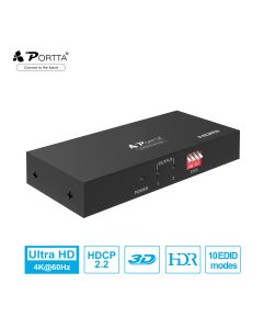Portta® 1x2 HDMI™ Splitter with EDID Control