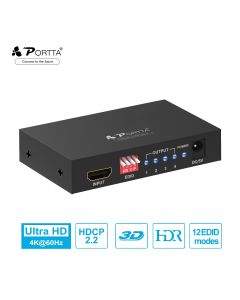 Portta® 1x4 HDMI™ Splitter with EDID Control