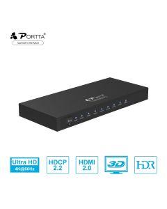 Portta 4k@60Hz 1x8  HDMI™ Splitter