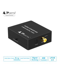 Portta® 2-ways Digital SPDIF Audio Converter