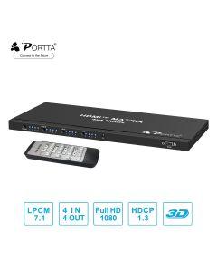 Portta® 4x4 HDMI™ Matrix with Remote