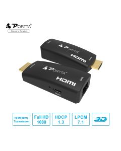 Portta® HDMI™ Extender 50M by Single Cat5e/6