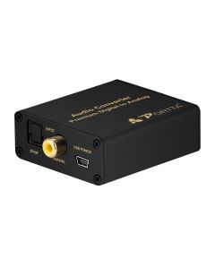 Portta® Digital to Analog Audio Converter  with 3.5mm Jack