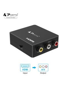 Portta® Mini HDMI™ to AV Converter