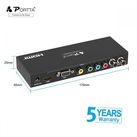 720p//1080p Portta AHD Converter AHD To HDMI CVBS VGA Component AHD Converter Upscaler